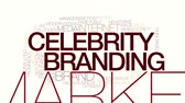 optimization : Celebrity branding animated word cloud.