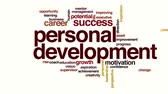 word cloud business : Personal development animated word cloud Stock Footage