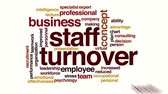 word cloud business : Staff turnover animated word cloud
