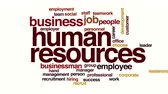 word cloud business : Human resources animated word cloud Stock Footage