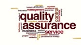 word cloud : Quality assurance animated word cloud. Stock Footage