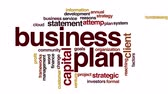 word cloud : Business plan animated word cloud. Zoom out element. Stock Footage