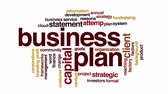 alcance : Business plan animated word cloud.