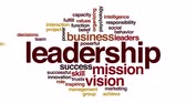 udatnost : Leadership animated word cloud. Zoom out element. Dostupné videozáznamy