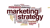 Результаты : Marketing strategy animated word cloud. Zoom out element.