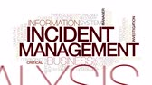encerramento : Incident management animated word cloud. Kinetic typography.