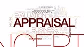 appraiser : Appraisal animated word cloud. Kinetic typography.