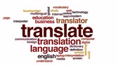 word cloud : Translate animated word cloud. Stock Footage