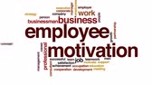 word cloud : Employee motivation animated word cloud.