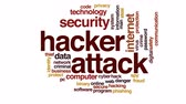 roubar : Hacker attack animated word cloud.