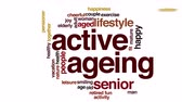 фитнес : Active ageing animated word cloud.