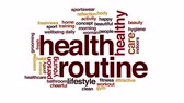 rotina : Health routine animated word cloud. Vídeos