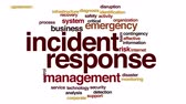 word cloud : Incident response animated word cloud.