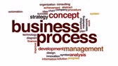 optimization : Business process animated word cloud. Stock Footage