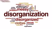 szafy : Disorganization animated word cloud. Wideo