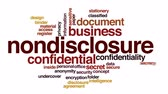 typografia : Nondisclosure animated word cloud. Wideo