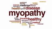 cinético : Myopathy animated word cloud.