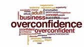 word cloud business : Overconfidence animated word cloud.