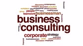 üzlet : Business consulting animated word cloud. Stock mozgókép