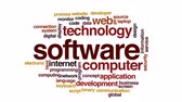 html : Software animated word cloud. Stock Footage