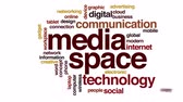 word cloud business : Media space food animated word cloud. Stock Footage