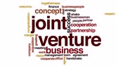 слияние : Joint venture animated word cloud.