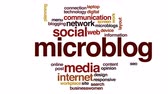 typography : Microblog animated word cloud. Stock Footage