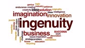 originality : Ingenuity animated word cloud. Stock Footage