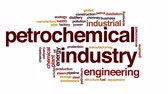 química : Petrochemical industry animated word cloud, text design animation.