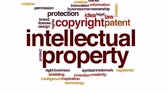 buluş : Intellectual property animated word cloud, text design animation.