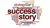 triunfar : Success story animated word cloud, text design animation. Stock Footage