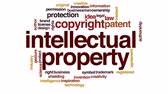 escritor : Intellectual property animated word cloud, text design animation.