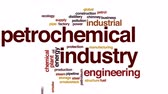 petrochemical plant : Petrochemical industry animated word cloud, text design animation.