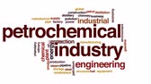 нефтехимический : Petrochemical industry animated word cloud, text design animation.