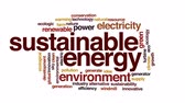 gerar : Sustainable energy animated word cloud, text design animation.