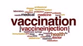 imunização : Vaccination animated word cloud, text design animation. Vídeos