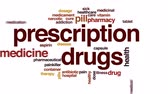 dose de : Prescription drugs animated word cloud, text design animation.