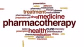 醫療保健 : Pharmacotherapy animated word cloud, text design animation. 影像素材