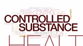 dose de : Controlled substance animated word cloud, text design animation. Kinetic typography.