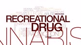 konopí : Recrational drug animated word cloud, text design animation. Kinetic typography.