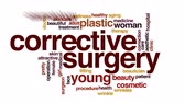 cosmetic surgeon : Corrective surgery animated word cloud, text design animation.