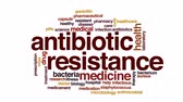 odolný : Antibiotic resistance animated word cloud, text design animation. Dostupné videozáznamy
