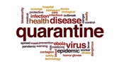 epidemic : Quarantine animated word cloud, text design animation. Stock Footage
