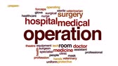 weterynaria : Operation animated word cloud, text design animation.