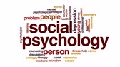 terapist : Social psychology animated word cloud, text design animation.