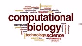 výpočetní : Computational biology animated word cloud, text design animation.