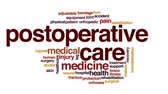 ajustável : Postoperative care animated word cloud, text design animation. Stock Footage
