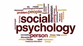 social worker : Social psychology animated word cloud, text design animation.