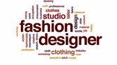 manequim : Fashion designer animated word cloud, text design animation.