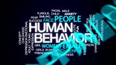 davranış : Human behavior animated word cloud, text design animation.